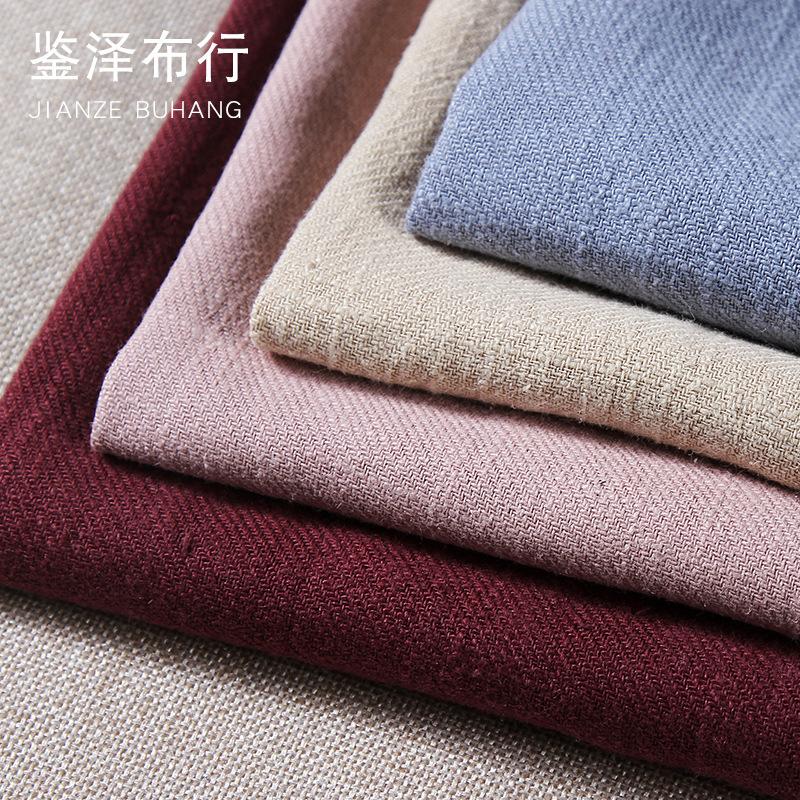 NLSX vải J1090 # Twill ramie vải có thể giặt được vải cotton và vải lanh