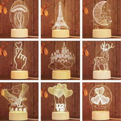 Khác Đèn điện, đèn sạc Vụ nổ xuyên biên giới Quà tặng sáng tạo 3D đêm ánh sáng led trang trí đèn bàn