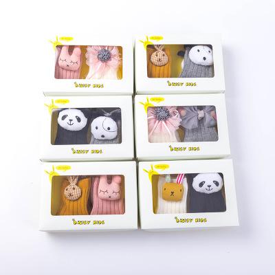 Vớ trẻ em Vớ trẻ em Nhật Bản vớ búp bê Nhật Bản mùa thu và mùa đông chải bông đôi tất trẻ em vớ 1-3-