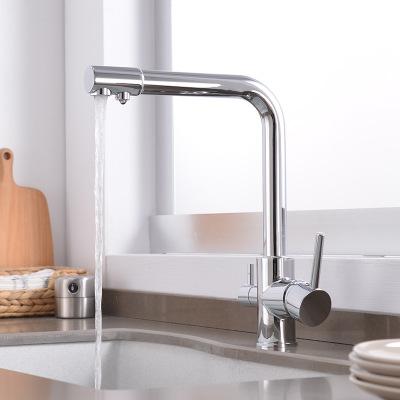 KANGSHUANG Vòi nước Nhà máy bán buôn vòi tinh khiết ba mục đích lưu vực vòi mạ điện đôi xử lý nhà bế