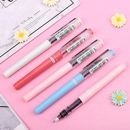 Snowhite Bút nước Cây bút tuyết trắng bút bi học sinh lỏng 0,5 bút bút gel có thể đổi túi mực nạp mà