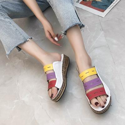 giày bánh mì / giày Platform Xuyên biên giới cho vụ nổ thương mại nước ngoài Dép đi trong màu sắc ph