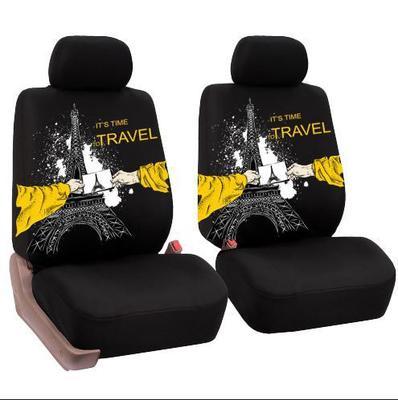 KEGAN Drap bọc ghế xe hơi Lion Print Car Seat Cover Sandwich 4 Piece Front Seat Universal Cloth Set