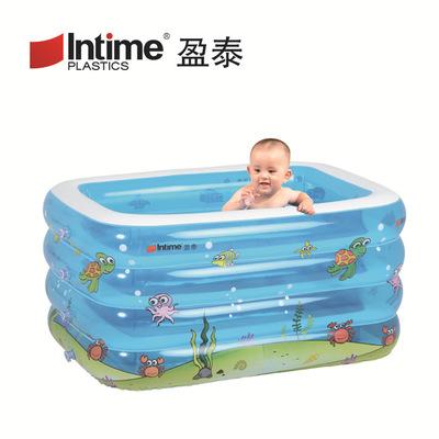 INTIME bể bơi trẻ sơ sinh Nhà máy trực tiếp Yingtai hồ bơi dày cho bé gấp bể bơi bơm hơi