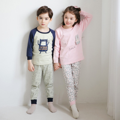 Thị trường trang phục trẻ em 彩 Đồ lót trẻ em đặt cổ tròn bằng cotton của Hàn Quốc trong thế hệ trẻ e