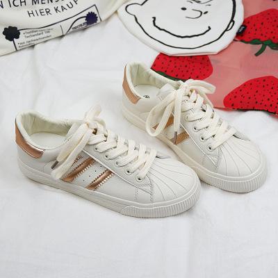 Giày trắng nữ Giày vải nữ nổi tiếng 2019 xuân mới dành cho học sinh phiên bản Hàn Quốc của vỏ da hoa