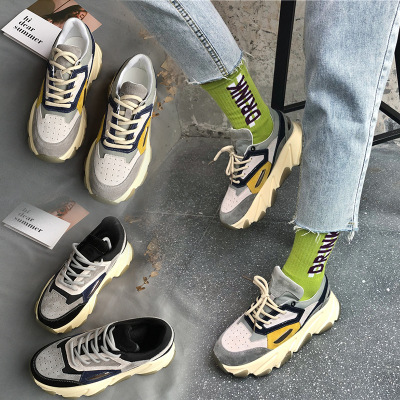 giày bánh mì / giày Platform Giày nữ Han Wei 5148 2019 mùa hè và mùa thu mới giày nữ cũ thủy triều đ