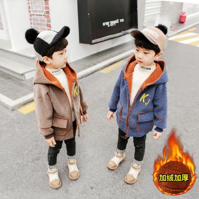 Áo khoác trẻ em Áo khoác trẻ em 2019 mùa đông mới cho bé phiên bản Hàn Quốc cộng với áo nhung dày mà