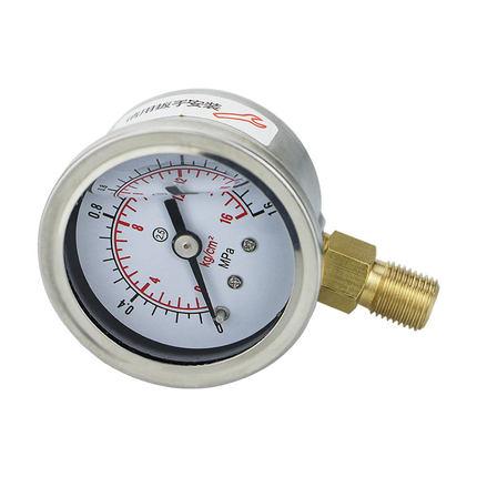 BODA Đồng hồ đo áp suất  Đồng hồ đo áp suất chống sốc YN40 vật liệu thép không gỉ áp lực thủy lực áp
