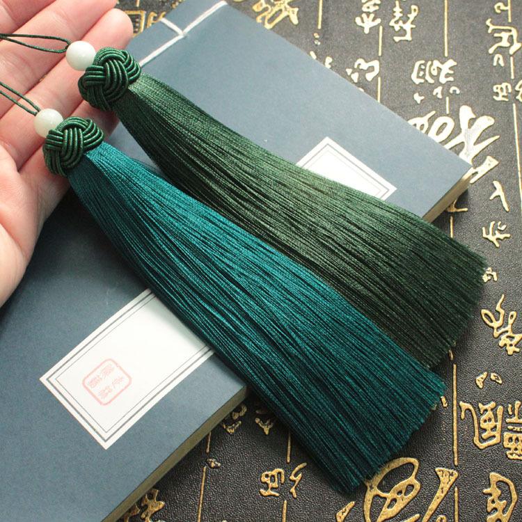 sợi tua Cao cấp mịn màng rayon dứa mũ tua tua tự làm Trung Quốc nút đánh dấu treo tai bán buôn