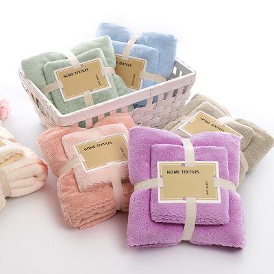 Khăn lông Khăn nhung san hô mật độ cao Khăn tắm sợi nhỏ Khăn tắm mềm thấm nước quà tặng tùy chỉnh ha
