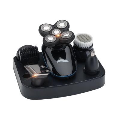 Dao cạo râu  Hói nhân tạo cắt tóc có thể sạc lại máy cạo râu điện 5 đầu cạo đầu máy