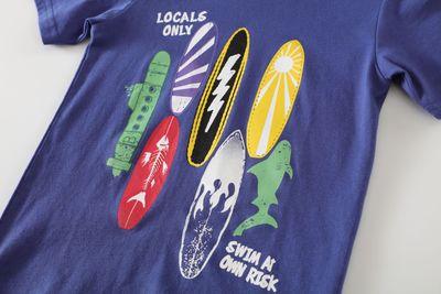 Đồ Suits trẻ em Bộ đồ ngắn tay thương hiệu nước ngoài phù hợp với áo phông trẻ em châu Âu và Mỹ phù