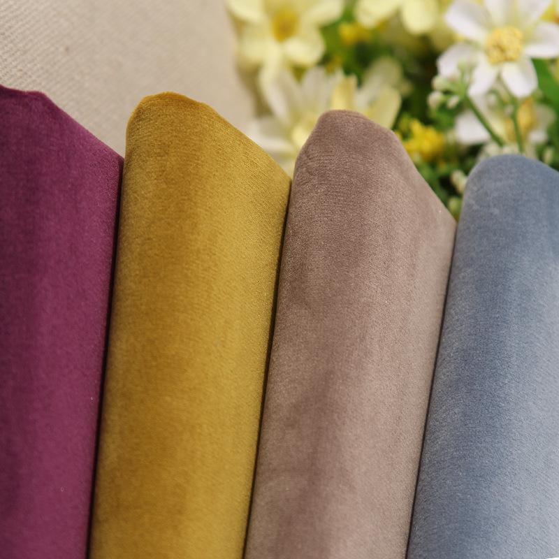 Vật liệu tổng hợp Vải nhung Pháp một mặt sofa vải nhung nhung vàng nhung nhung Nhà máy nhung Hà Lan