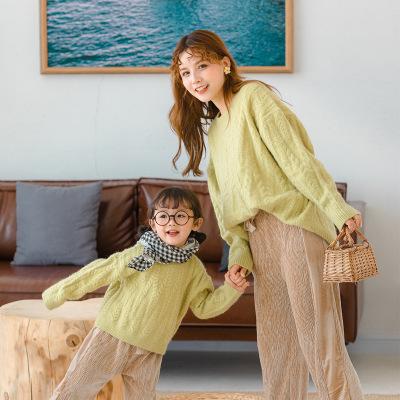 Áo thun gia đình Lớn) mèo nhỏ lười biếng cha mẹ-con tải 2019 mùa thu mới phiên bản Hàn Quốc của áo l