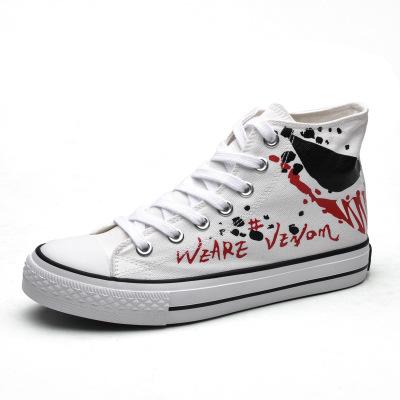 Giày Sneaker / Giày trượt ván Giày nam Badboy mùa thu và mùa đông bùng nổ Giày trắng nam thời trang