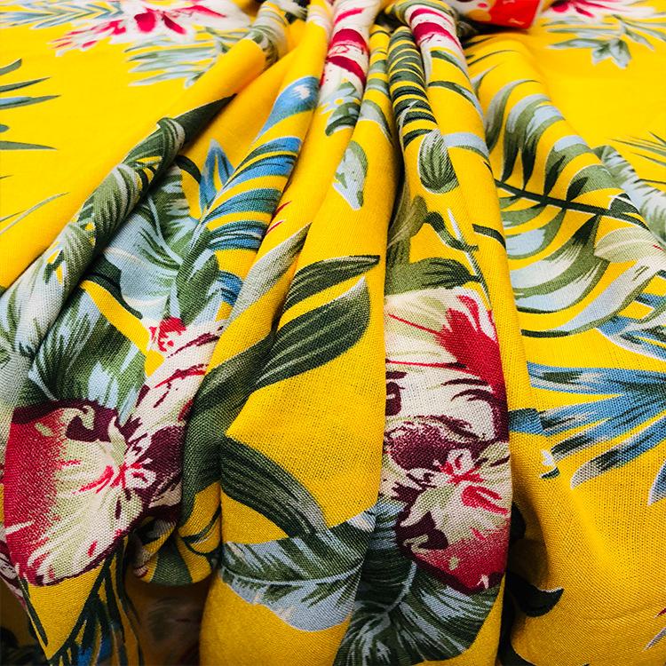 Vải Visco (Rayon) Mùa xuân và mùa hè mới in cotton nam 30 bông hoạt động cotton lụa áo sơ mi nữ, vv