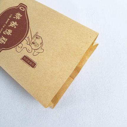 TYQ Túi giấy  Sắt tấm vịt xúc xích túi vịt nướng xúc xích chuỗi bao bì túi giấy kraft dày túi giấy c