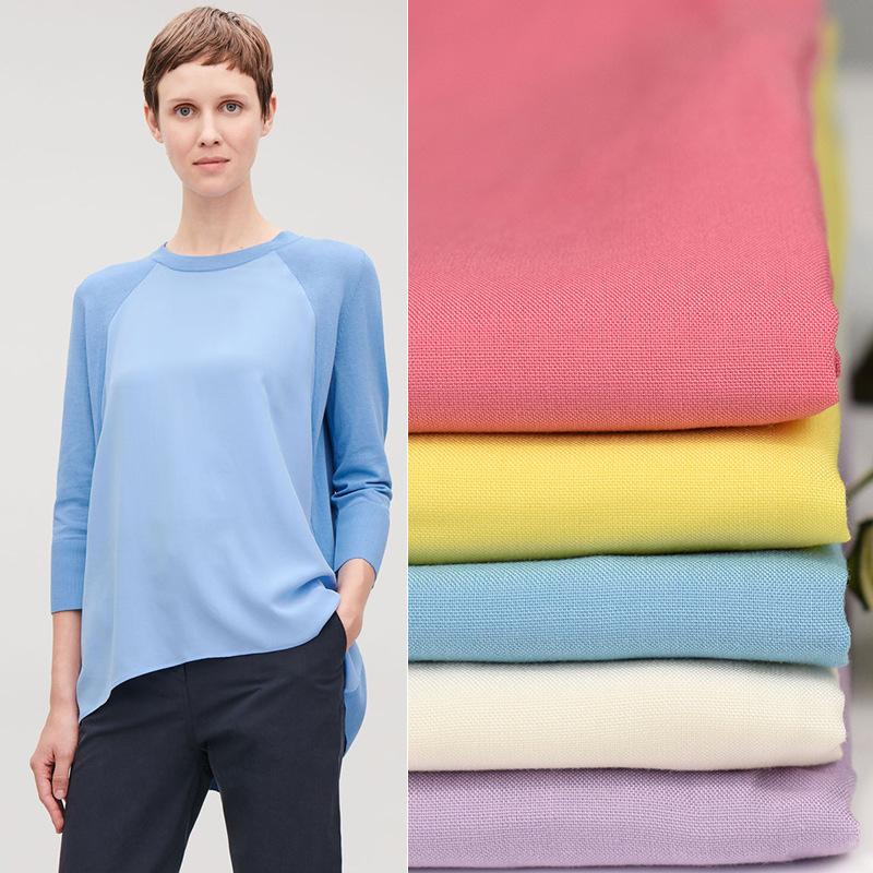 SHISEGUANG Vải Visco (Rayon) Nhà cung cấp cổ phiếu cotton 45 màu vải nhuộm vải phẳng vải 52 màu áo s