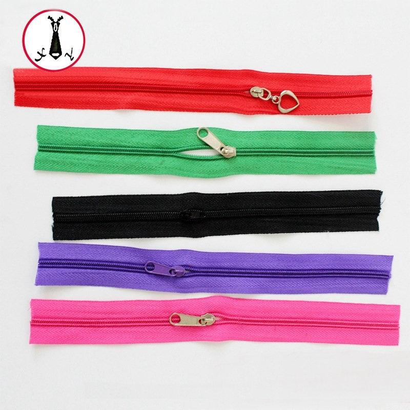 XINGRONG Dây kéo nylon 5 # tùy chỉnh Đôi dây kéo màu đuôi kín Quần áo mã túi dây kéo Dây kéo nylon