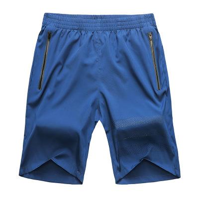 Đồ chống nắng mau khô Quần short thể thao nam Đấm laser chạy tập thể dục quần có khóa kéo Mùa hè nha