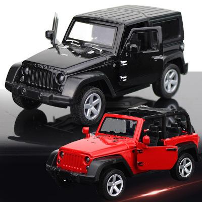 Mô hình xe Mô hình xe hợp kim Off-road mui trần xe Jeep Wrangler kim loại mô hình xe nướng bánh tran