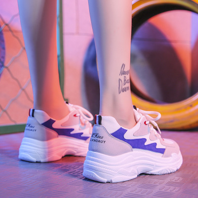 Giày tăng chiều cao Mùa xuân 2019 kiểu mới giày cũ nữ phiên bản Hàn Quốc của ulzzang Harajuku giày h