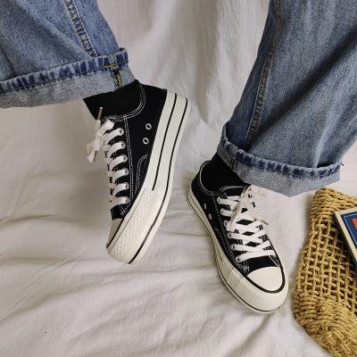 giày bánh mì / giày Platform Giày vải đế dày Giày nữ mùa thu 2019 Giày mùa thu mới Học sinh Hàn Quốc