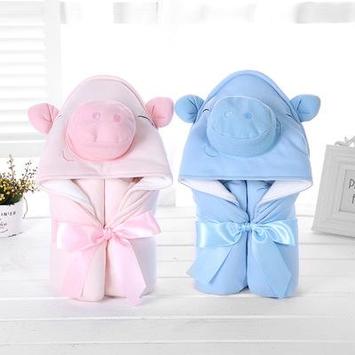 Khăn quấn 2019 tại nhà máy trực tiếp ôm em bé là phim hoạt hình lợn dễ thương của Hàn Quốc