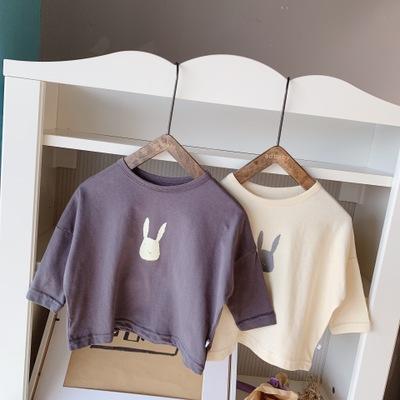 Áo thun trẻ em Quần áo mùa thu 2019 cho trẻ em mới hoạt hình Áo thun nam Hàn Quốc áo sơ mi nam dài t