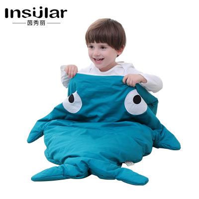 Túi ngủ trẻ em Yin Beauty INS Exploding Children Túi ngủ cá mập Giữ mùa thu và mùa đông Ấm áp cho tr