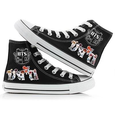 giày vải Nhóm thanh niên chống đạn của BTS xung quanh phiên bản tiếng Hàn của giày vải cao cấp thời