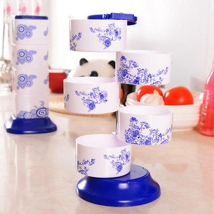 Cookever  Hũ nhựa Sáng tạo xoay gia vị hộp dọc gia vị hộp nhà bếp cung cấp lon gia vị nhiều lớp dọc