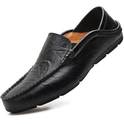 Giày FuJian Giày da đậu Hà Lan Giày lười nam cỡ lớn Giày nam cỡ lớn Giày nam bình thường Giày thủy