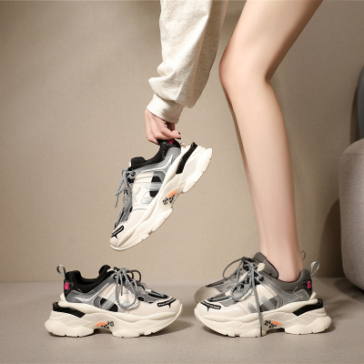 giày bánh mì / giày Platform 2019 Phiên bản Hàn Quốc của mùa thu mới và giày da mùa đông mới Giày đế