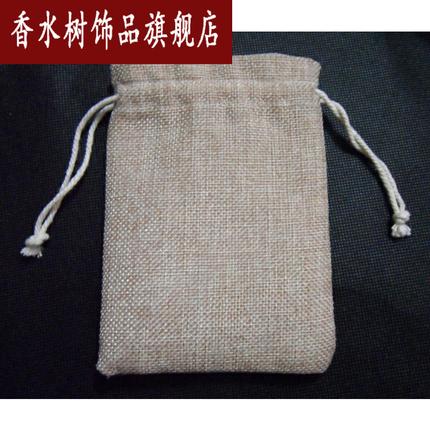 Xiangshuishu Túi đựng trang sức Túi vải lanh thô bao bì vải lanh dây rút túi linh tinh bó túi đay tú