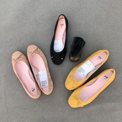 Giày GuangDong Thoải mái! Giày da lộn đế xuồng mới của phụ nữ thời trang hoang dã cỡ lớn