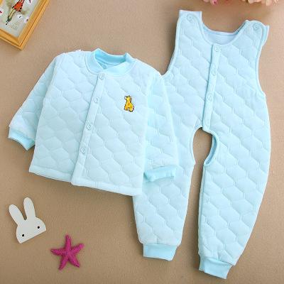 Thị trường trang phục trẻ em Trẻ em mặc dây đeo cho trẻ sơ sinh mùa đông Bộ đồ lót dày cho bé 1-3 tu