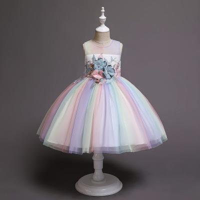 Trang phục dạ hôi trẻ em Mùa hè 2019 quần áo trẻ em trẻ em mới công chúa váy đầm cô gái váy hiệu suấ
