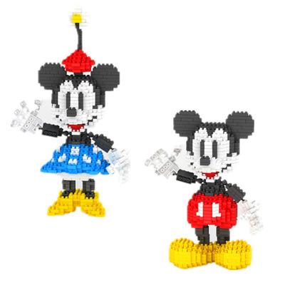 Bộ đồ chơi rút gỗ Weili YZ tại chỗ bán buôn các hạt nhỏ lắp ráp khối xây dựng đồ chơi Minnie Mickey