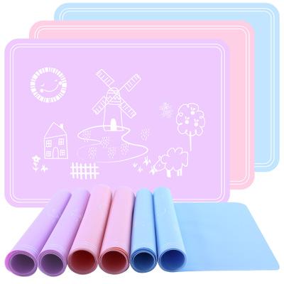 ZHIYONG Đệm chống trơn Thực phẩm lớp phim hoạt hình dễ thương silicone học sinh trẻ em placemat 40 *