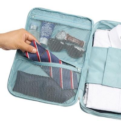 Túi xách du lịch 2016 mới Hàn Quốc du lịch thế hệ thứ hai áo khoác lưu trữ túi áo khoác nam công suấ