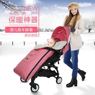 Xe đẩy trẻ em Xe đẩy em bé túi ngủ mùa thu và mùa đông gió ấm chân che em bé xe chân che trẻ em đệm