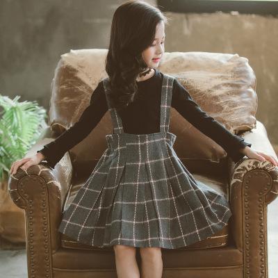 Đồ Suits trẻ em 2019 cô gái mới mùa thu hai mảnh phiên bản Hàn Quốc của bộ đồ kẻ sọc trẻ em lớn phù