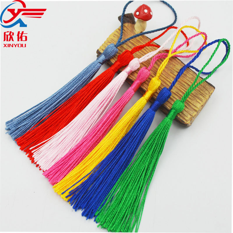 XINYOU sợi tua Bán buôn nút thắt tua Trung Quốc tua tua trang phục quạt nhỏ tua tự làm mặt dây chuyề