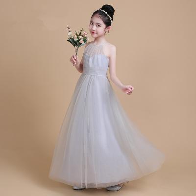 Trang phục dạ hôi trẻ em Trẻ em ăn mặc cô gái công chúa váy xám lông mịn gạc váy cậu bé lớn chủ nhà