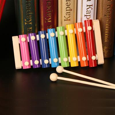 Đồ giảng dạy trẻ sơ sinh Trẻ sơ sinh dạy trẻ em đồ chơi giáo dục bằng gỗ, gỗ sồi, gõ piano, gõ xylop