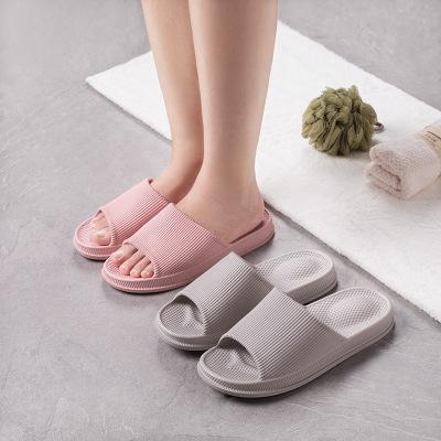 dép mang trong nhà Dép đi trong nhà mới của Nhật Bản mùa hè nam và nữ đôi phòng tắm trong nhà chống