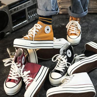 giày bệt nữ Mùa thu 2019 mới 1970 tăng cao giúp giày vải nữ phiên bản Hàn Quốc của đôi giày nhỏ màu