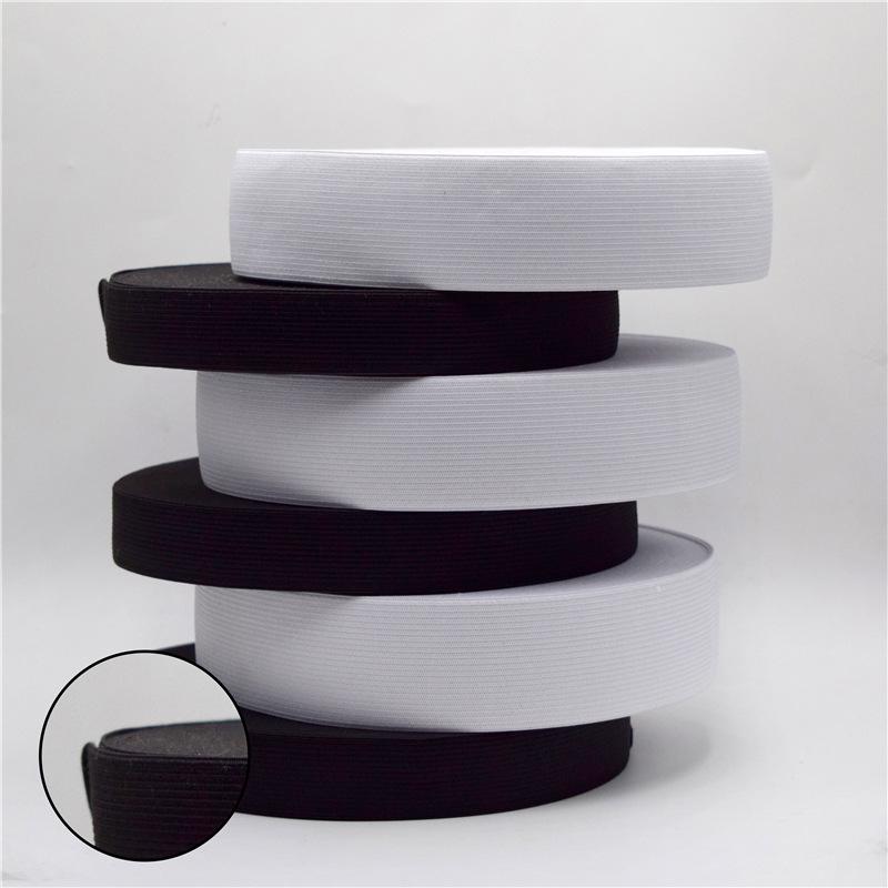 HANGHONG Dây thun Tại chỗ màu đen và trắng viền xanh đan đàn hồi mỏng vừa dày dày đàn hồi cao polyes